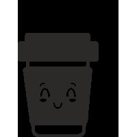 Sticker Gobelet café