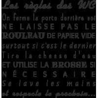 Sticker Les Règles Wc