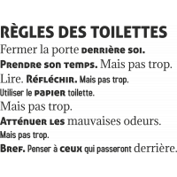 Sticker Les Règles Toilettes