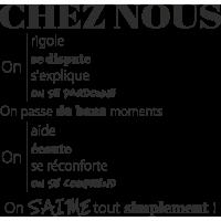 Sticker Les Règles Chez Nous