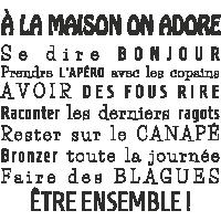 Sticker Les Règles Maison