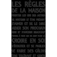 Sticker Les Règles De La Maison 2