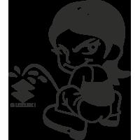 Sticker Piss Girl Suzuki