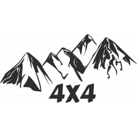 Sticker Montagne 4x4