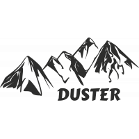 Sticker Montagne Duster