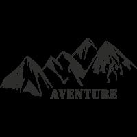 Sticker Montagne Aventure