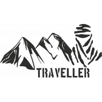 Sticker Montagne Touareg Traveller