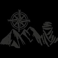 Sticker Montagne Touareg Boussole