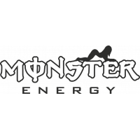 Sticker Monster Energy Pin Up