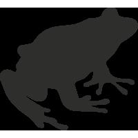 Sticker Grenouille Profil