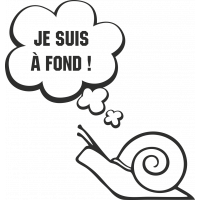 Sticker Humour Je Suis à Fond