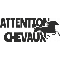 Sticker Attention Chevaux 3