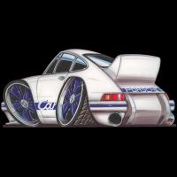 Autocollant 124-Porsche-Carrera