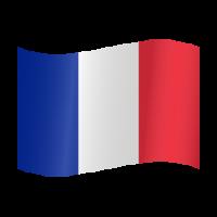 Autocollant Drapeau français 2