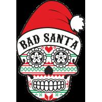 Autocollant Noël Tête de Mort Mexicaine 2
