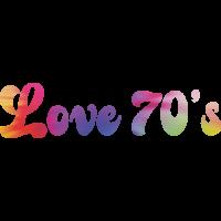 Sticker Peace and Love Love 70's Tie Dye