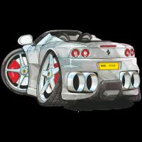 Autocollant 1434-Ferrari-360-spyder