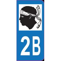 Sticker immatriculation 2B - Haute-Corse