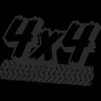 Sticker deco 4x4 Trace de pneu