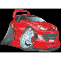 Autocollant 1523-Peugeot 206