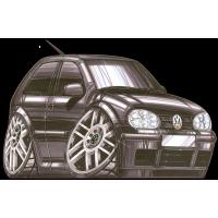 Autocollant 1534-Golf VR6