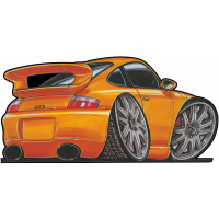 Autocollant 157-Porsche-911-GT3