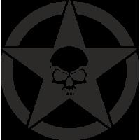 Sticker Etoile US Skull