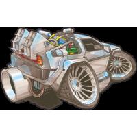 Autocollant 1617-retour vers le futur
