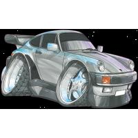 Autocollant 1748-Porsche-911