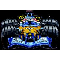 Autocollant F1_Alonso