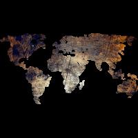 Sticker Monde Mappemonde Globe Grunge