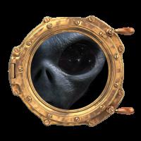 Sticker Hublot Alien Oeil