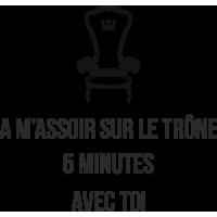 Sticker Toilettes WC Trône