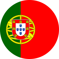 Autocollant Drapeau Portugal rond