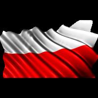 Autocollant Drapeau Pologne