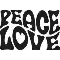 Sticker Peace and Love 70's