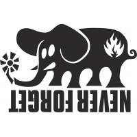 Sticker Black Label Elephant