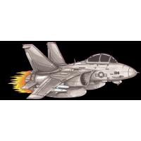 Autocollant 2085-F14 Tomcat TOPGUN