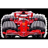 Autocollant F1_Ferrari_Kimi