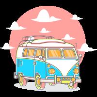 Autocollant Combi Van
