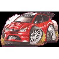 Autocollant 2092-Citroen-C4-Rally