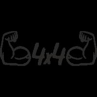 Sticker 4x4 strong