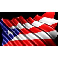 Autocollant Drapeau Porto Rico