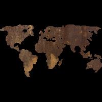 Sticker Monde Mappemonde Globe Rouille