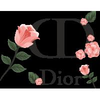 Autocollant Dior Fleurs 3