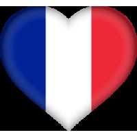 Autocollant Drapeau français coeur