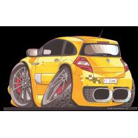 Autocollant 2332-Renault  Megane F1 Team
