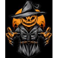 Stickers Halloween Pumpkin Head 4 Citrouille