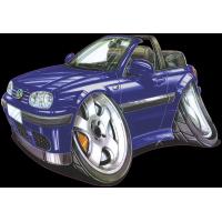Autocollant 2478-Golf Cabrio