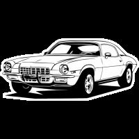 Sticker CHEVROLET CHEVELLE Car